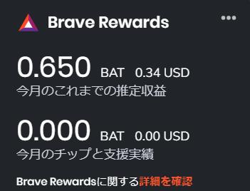 今月のbrave報酬